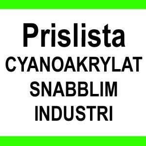 PRISLISTA CYANOAKRYLAT